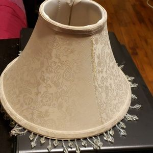 Taupe color Lampshade w bead trim